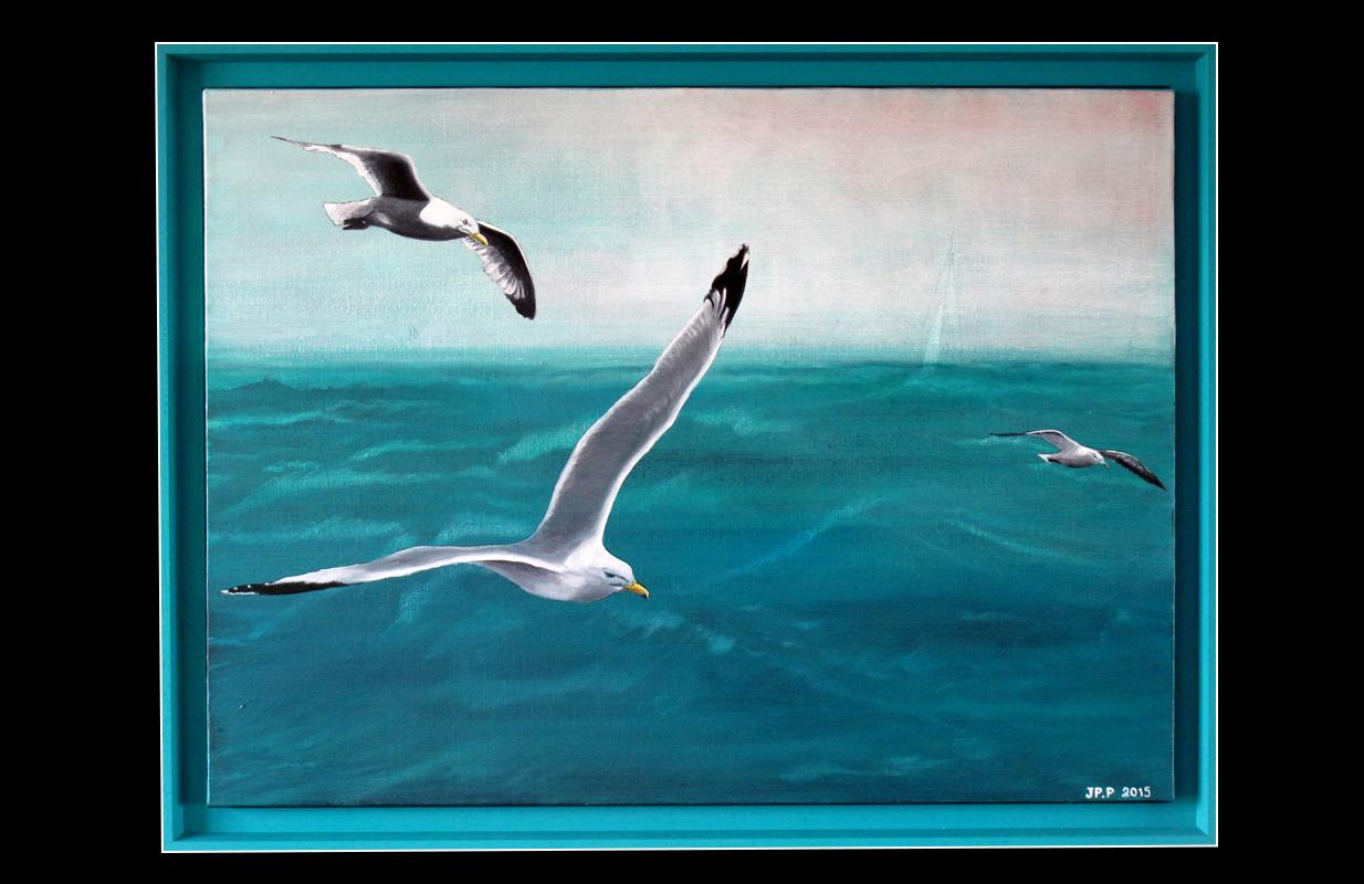 Plasseraud peinture mer - Peindre sur de la peinture brillante ...